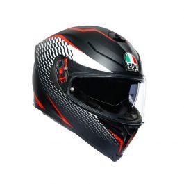 K5 S Thunder mat črna/bela/rdeča – Agv