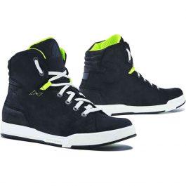 Moto čevlji Swift Dry črni/fluo rumeni – Forma