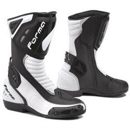 Moto škornji Freccia črno/beli – Forma