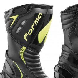 Moto škornji Freccia črni/fluo rumeni – Forma