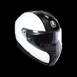 Preklopna čelada Sportmodular bela/carbon – Agv