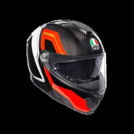 Preklopna čelada Sportmodular rdeča/carbon – Agv