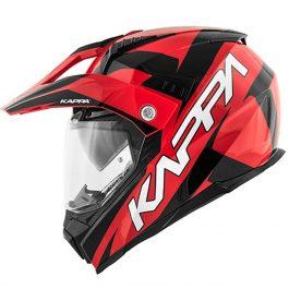 Integralna čelada KV30 Enduro Flash črno/rdeča – Kappa