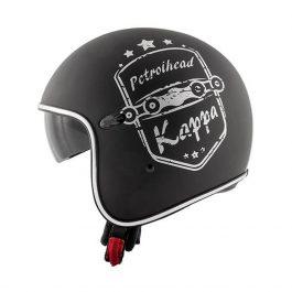 Jet čelada KV29 Philadelphia črna – Kappa