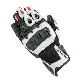 Moto rokavice Flux Pro črno/bele – Rebelhorn