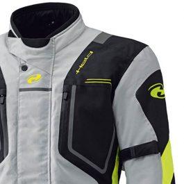 Moto jakna Zorro siva/fluo rumena/črna – Held
