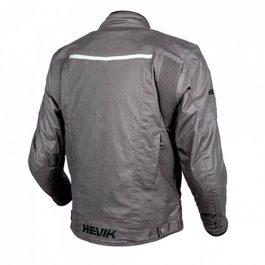 Moto jakna Vintage sivo/črna moška – Hevik