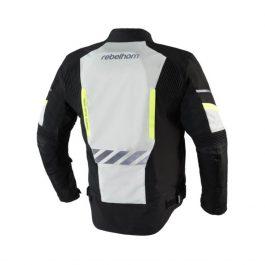 Moto jakna District sivo/črna – Rebelhorn