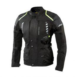 Moto jakna Hiker II črna/fluo rumena  Rebelhorn