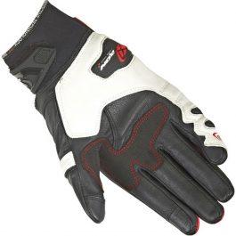 Moto rokavice RS Ring črno/bele – Ixon