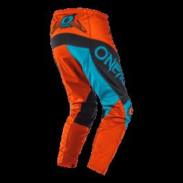 Motocross hlače Element Factor siva-oranžna-modra – O'neal