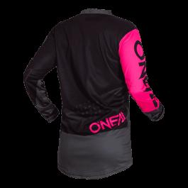 Motocross majica Element Jersey Factor črna-roza – O'neal