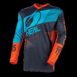 Motocross majica Element Jersey Factor siva-oranžna-modra – O'neal