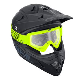 Motocross očala B-Zero 18 rumena – O'neal