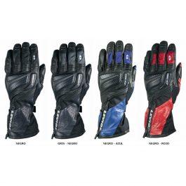 Motoristične usnjene rokavice Touch črno-modre – Levior