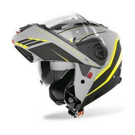 Preklopna čelada Phantom S Beat mat siva/fluo rumena – Airoh