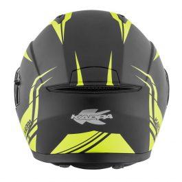 Preklopna čelada KV31 Arizona Phantom matt black/yellow – Kappa