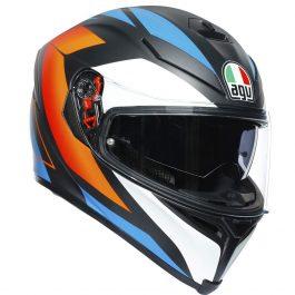 K5 S Core črna mat/modra/oranžna – Agv