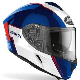 Moto čelada Spark Blue/Red Gloss Flow – Airoh