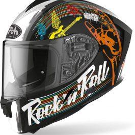 Moto čelada Spark Black Gloss Rock'n'Roll – Airoh