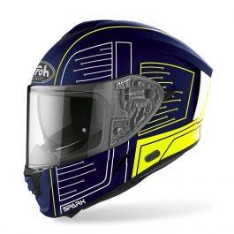 Moto čelada Spark Blue Matt Cyrcuit – Airoh