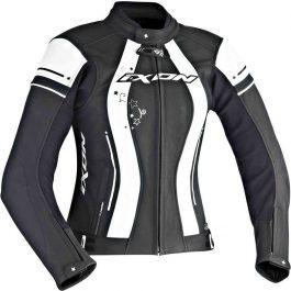 Ženska motoristična jakna Alcyone črno/bela – Ixon