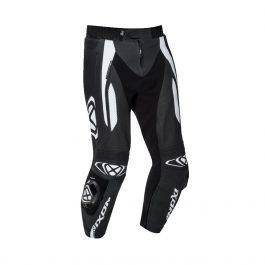Motoristične usnjene hlače Vortex 2 črno/bele – Ixon
