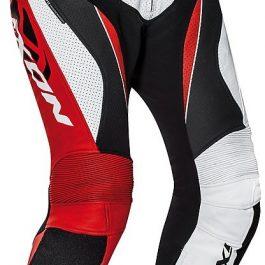 Motoristične usnjene hlače Falcon rdeče/bele/črne – Ixon
