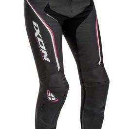 Ženske usnjene motoristične hlače Trinity PT črno/roza – Ixon