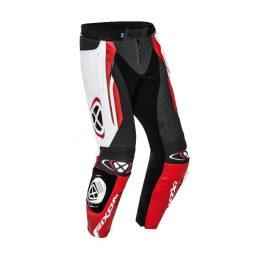Motoristične usnjene hlače Vortex 2 rdeče/bele/črne – Ixon
