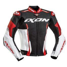 Motoristična usnjena jakna Vortex 2 rdeča/bela/črna – Ixon