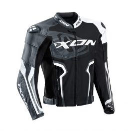 Motoristična usnjena jakna Falcon črno/bela – Ixon