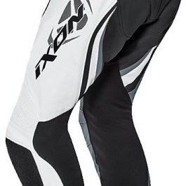 Motoristične usnjene hlače Falcon črno/bele – Ixon