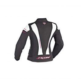 Ženska motoristična jakna Alcyone črna/bela/roza – Ixon