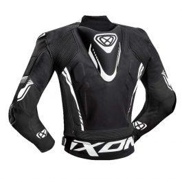 Motoristična usnjena jakna Vortex 2 črno/bela – Ixon