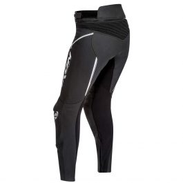Ženske usnjene motoristične hlače Trinity PT črno/bele – Ixon