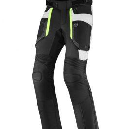 Moto hlače Borg črne/sive/fluo rumene – Rebelhorn
