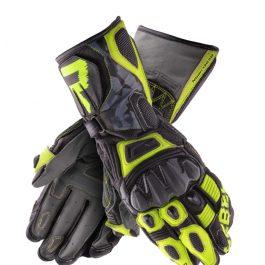 Moto rokavice Rebel črne/camo/fluo rumene – Rebelhorn