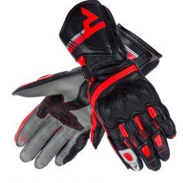Ženske moto rokavice ST črne/sive/fluo rdeče – Rebelhorn