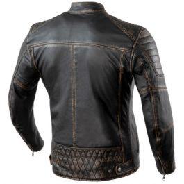 Usnjena vintage jakna Hunter Pro črna – Rebelhorn