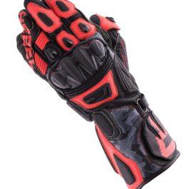 Moto rokavice Rebel črne/camo/fluo rdeče – Rebelhorn