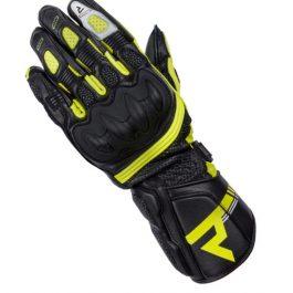 Ženske moto rokavice ST črne/sive/fluo rumene – Rebelhorn