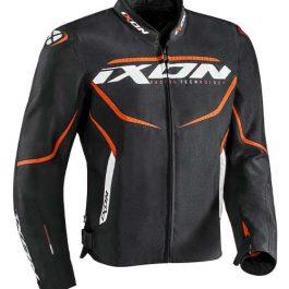 Moto jakna Sprinter črna/fluo oranžna – Ixon