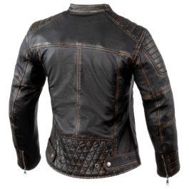 Ženska usnjena Vintage jakna Hunter Pro rjava-Rebelhorn