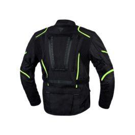 Moto jakna Hiker III-črna/fluo rumena-Rebelhorn