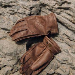 Moto rokavice-Alaska Vintage-rjave-Broger